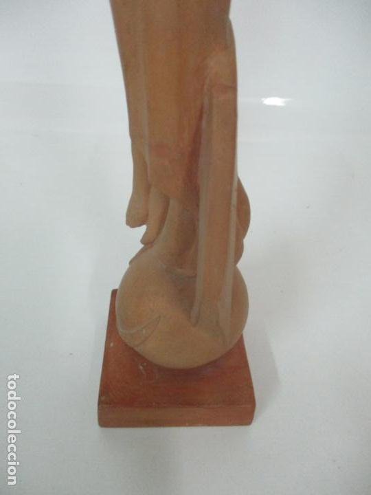 Arte: Bonita Virgen Purísima - Terracota - Firma J. Casadevall - Escuela de Olot - Foto 12 - 154776490