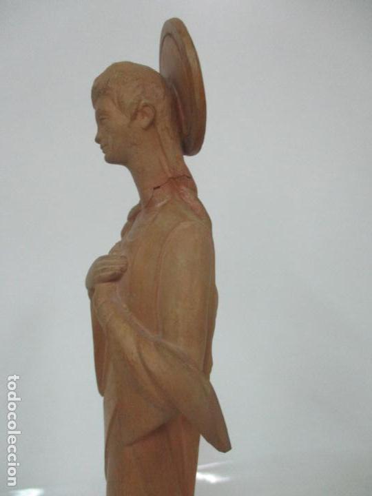 Arte: Bonita Virgen Purísima - Terracota - Firma J. Casadevall - Escuela de Olot - Foto 13 - 154776490