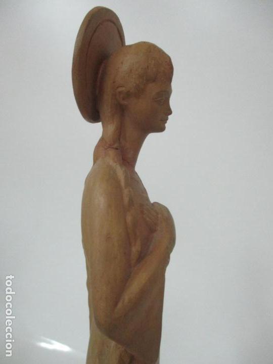 Arte: Bonita Virgen Purísima - Terracota - Firma J. Casadevall - Escuela de Olot - Foto 23 - 154776490