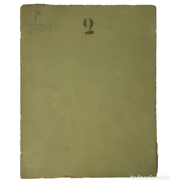 Arte: Inmaculada, oleo sobre tabla, bellísima, 24 x 19, tamaño ideal, firmado y dedicado, 1909 - Foto 2 - 154781410