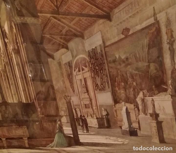 CAMPOSANTO DE PISA ACUARELA DATADA 1869,FIRMA ILEGIBLE (Arte - Arte Religioso - Pintura Religiosa - Acuarela)