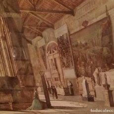 Arte: CAMPOSANTO DE PISA ACUARELA DATADA 1869,FIRMA ILEGIBLE. Lote 154784458