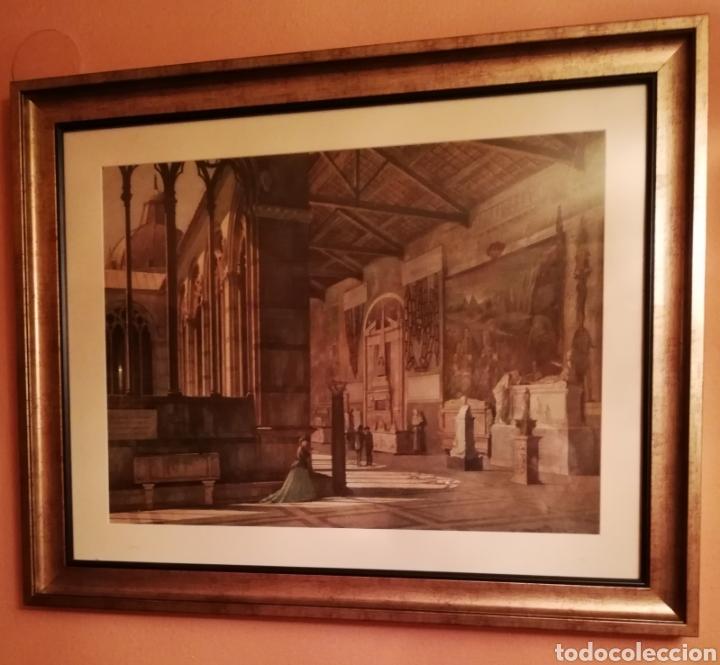 Arte: Camposanto de Pisa Acuarela datada 1869,firma ilegible - Foto 2 - 154784458