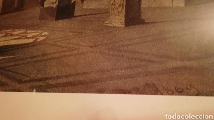 Arte: Camposanto de Pisa Acuarela datada 1869,firma ilegible - Foto 3 - 154784458