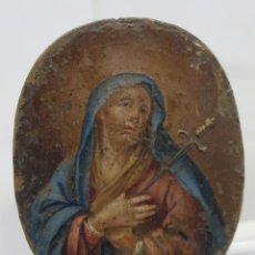 Arte: BONITA MINIATURA DOLOROSA. OLEO S/ COBRE. SIGLO XVIII. Lote 154788742