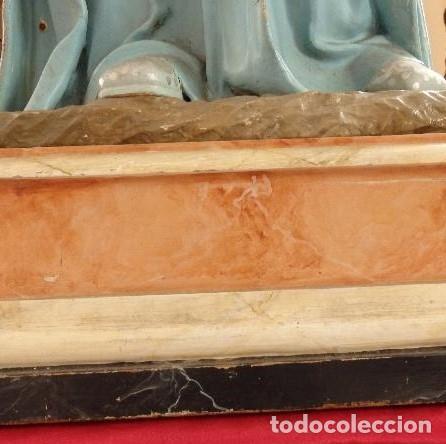 Arte: Virgen Niña. Escultura vestidera o cap i pota en madera policromada.105 cm. Siglo XIX. semana santa - Foto 17 - 154845778