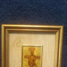 Arte: IMAGEN DE JESÚS SOBRE LA CRUZ REALIZADA A MANO EN ORO DE 23 KILATES DE EDICIÓN LIMITADA. Lote 154943924
