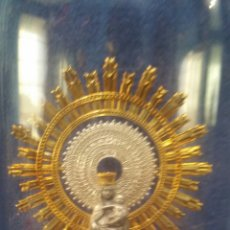 Arte: IMAGEN RELIGIOSA DE LA VIRGEN DEL PILAR DENTRO DE URNA PATENTADA. Lote 155140074