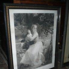 Arte: GRABADO ISABELINO, SEGUNDA MITAD DEL SIGLO XIX CON MARCO Y CRISTAL ORIGINAL MEDIDAS: 75 X 61 CM. Lote 155156210