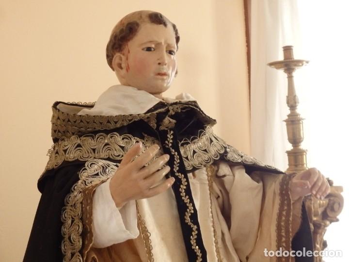 Arte: San Pedro Mártir. Imagen vestidera o cap i pota en madera tallada. 98 cm. Siglo XVIII. - Foto 3 - 143340742