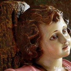 Arte: ARTE RELIGIOSO - PRECIOSO NIÑO EN LA CRUZ - SAN ANTONIO MARÍA CLARET - OJOS DE CRISTAL - OLOT. Lote 155257062