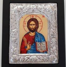 Arte: ICONO BIZANTINO. PLATA. Lote 155315830