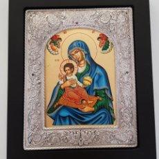 Arte: ICONO BIZANTINO. PLATA. Lote 155316070