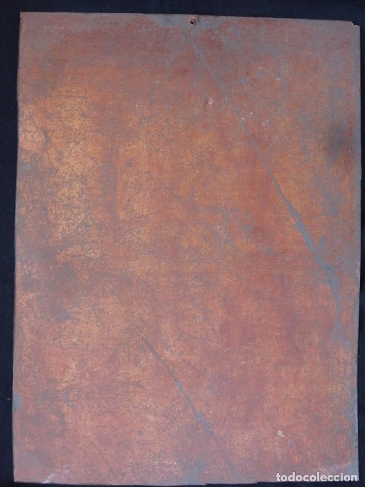 Arte: Charitas Bónitas. S. Francisco de Paula. Óleo sobre lámina de metal. 41 x 31 cm. Siglos XVII-XVIII. - Foto 13 - 155317470