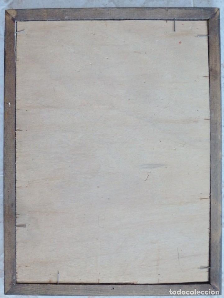 Arte: Charitas Bónitas. S. Francisco de Paula. Óleo sobre lámina de metal. 41 x 31 cm. Siglos XVII-XVIII. - Foto 16 - 155317470