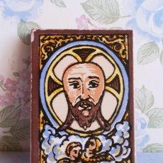 Arte: IMÁN CERÁMICA MINIATURA RELIGIOSA CRISTO JESÚS ACCESORIO DECORACIÓN. Lote 155352114