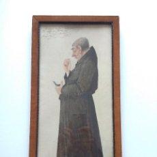 Arte: AÑO 1917. POLVOS DE LA MADRE CELESTINA. LAMINA DE MONJE, FIRMADA POR MARXUACH(CATALAN),47X23CM.. Lote 155412130