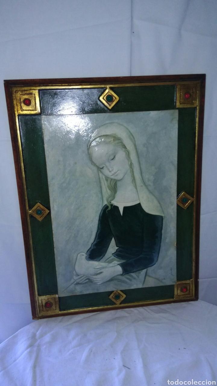 PRECIOSA REPRODUCION. (Arte - Arte Religioso - Pintura Religiosa - Oleo)