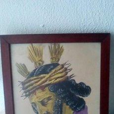 Arte: DIBUJO FIRMADO CRISTO NAZARENO. 24 X 30 CM. Lote 155495610