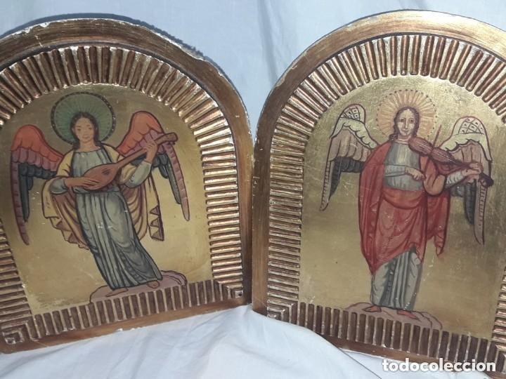 ÁNGELES MÚSICOS ESTILO GÓTICO (Arte - Arte Religioso - Retablos)