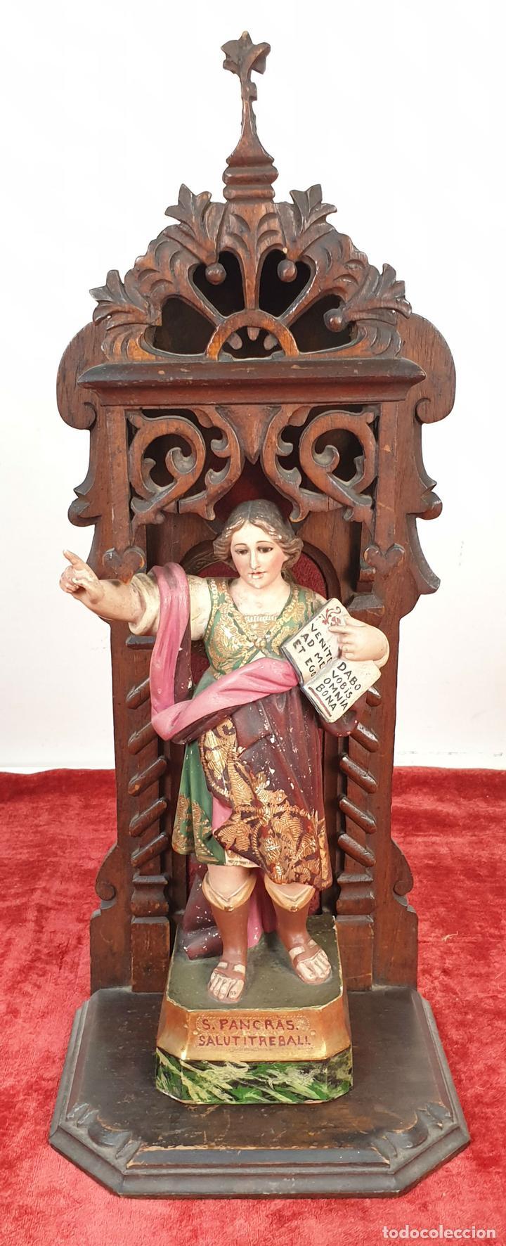 238eea9ecbb San pancracio escultura de estuco pintado a mano capilla de madera siglo  jpg 720x1772 San pancracio