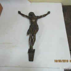Arte: CRISTO BRONCE DEL SIGLO XIX NUMERADO. Lote 155609290