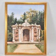 Arte: ACUARELA Y TINTA SOBRE PAPEL ANTIGUO ESCUELA ITALIANA SIGUIENDO MODELOS CONSTRUCTIVISTAS. Lote 155644342