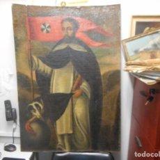 Arte: OLEO SANTO DOMINGO DE GUZMAN SIGLO 17 GRAN MEDIDA. Lote 155653326