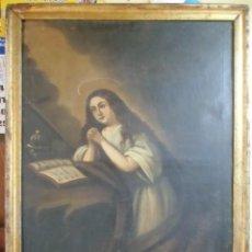 Arte: MAGDALENA PENITENTE.S.XIX.OLEO SOBRE LIENZO.. Lote 155658682