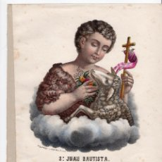 Arte: LITOGRAFIA S.XIX - SAN JUAN BAUTISTA - DE ANTONIO PASCUAL Y ABAD. EDITOR VALENCIA. Lote 155695986