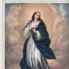 Arte: LITOGRAFIA S.XIX - LA PURISMA CONCEPCION - DE ANTONIO PASCUAL Y ABAD. EDITOR VALENCIA. Lote 155696286