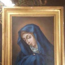 Arte: DOLOROSA S.XIX. OLEO SOBRE COBRE.. Lote 155760117