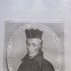 Arte: GRABADO DEL XVIII - ELECTUS IN CONGREGATIONE GENERALI XV. Lote 155777462