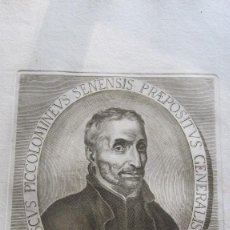 Arte: GRABADO DEL XVIII - ELECTUS IN CONGREGATIONE GENERALI NONA. Lote 155778918