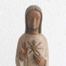 Arte: SANTO CRISTO, ARTESANIA DE MONASTERIO DE BETHLEEM. 35/40 CM DE ALTURA APROX. Lote 155810694