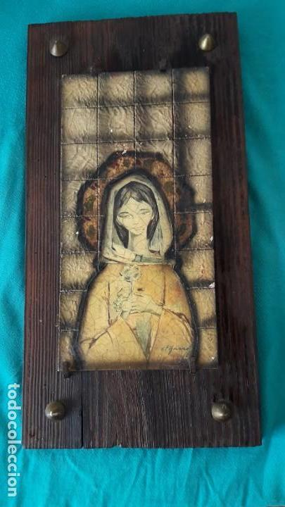 REPRESENTACIÓN RÚSTICA DE LA VIRGEN NIÑA DE PIFARRÉ. (Arte - Arte Religioso - Pintura Religiosa - Otros)