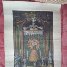 Arte: AUTENTICA REPRODUCCION DE LA SAGRADA IMAGEN VIRGEN DEL PILAR SU CENTENARIO 1940 ARZOBISPO ZARAGOZA. Lote 155893477
