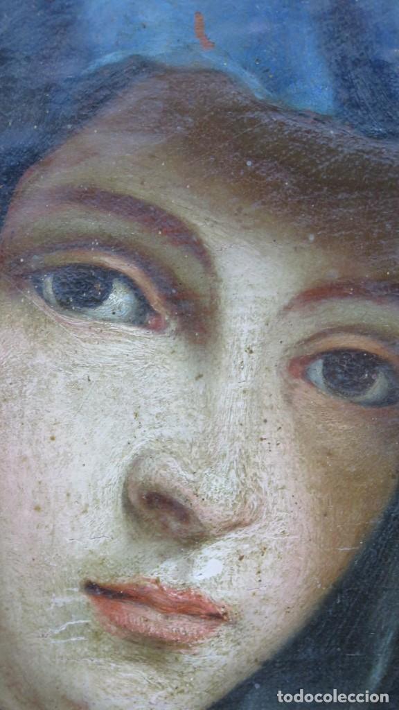 Arte: PRECIOSA DOLOROSA. OLEO S/ LIENZO. SIGLO XVIII. MARCO ANTIGUO - Foto 2 - 155924938