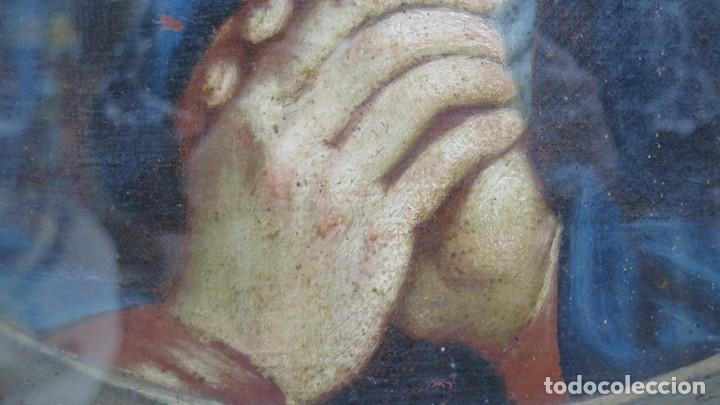 Arte: PRECIOSA DOLOROSA. OLEO S/ LIENZO. SIGLO XVIII. MARCO ANTIGUO - Foto 7 - 155924938