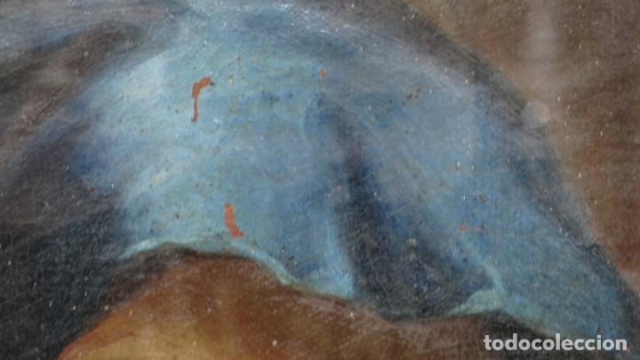 Arte: PRECIOSA DOLOROSA. OLEO S/ LIENZO. SIGLO XVIII. MARCO ANTIGUO - Foto 12 - 155924938