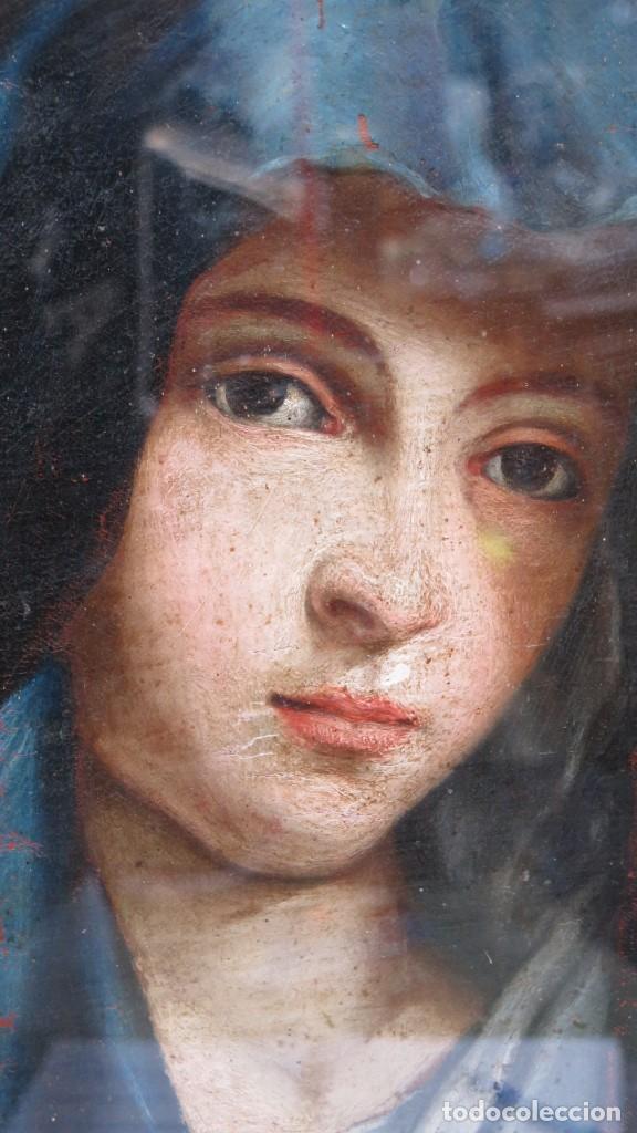 Arte: PRECIOSA DOLOROSA. OLEO S/ LIENZO. SIGLO XVIII. MARCO ANTIGUO - Foto 13 - 155924938