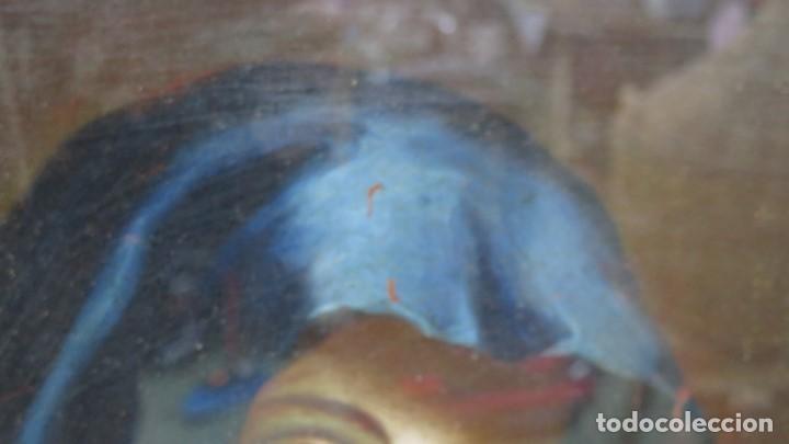Arte: PRECIOSA DOLOROSA. OLEO S/ LIENZO. SIGLO XVIII. MARCO ANTIGUO - Foto 14 - 155924938