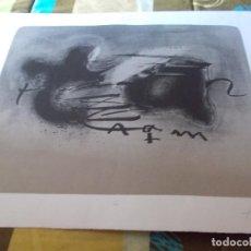 Arte: INTERESANTE LITOGRAFIA ORIGINAL CON FIRMA Y NUMERADA DE ANTONI TAPIES. Lote 155960382