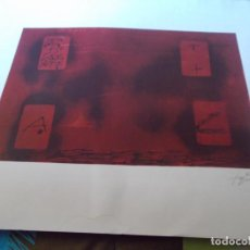 Arte: INTERESANTE LITOGRAFIA ORIGINAL CON FIRMA Y NUMERADA DE ANTONI TAPIES MEDIDAS 74X56 HC. Lote 155961686