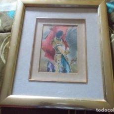 Arte: EXCELENTE ACUARELA TEMA TAURINO CON FIRMA ORIGINAL MEDIDAS 36X32. Lote 155964594