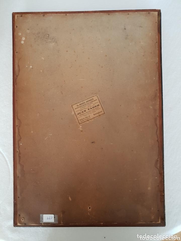 Arte: Descendimiento de LA CRUZ Cristo cobre O METAL convexo Esmalte Firmado: 48.5X33.5 cm marco madera - Foto 11 - 155977026