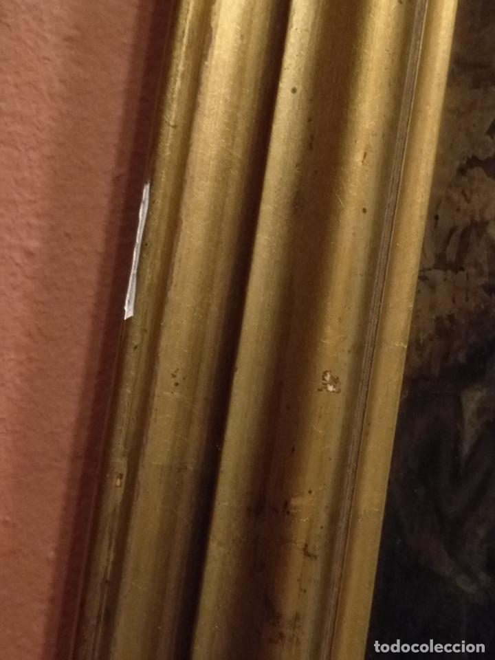 Arte: Descendimiento de LA CRUZ Cristo cobre O METAL convexo Esmalte Firmado: 48.5X33.5 cm marco madera - Foto 16 - 155977026
