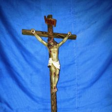 Arte: CRISTO CRUCIFICADO CRUZ MADERA... Lote 156008602