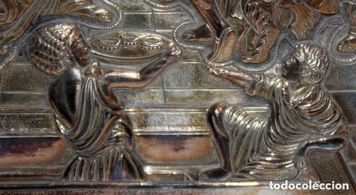 Arte: GRAN ICONO BIZANTINO EN PLATA REPUJADA DE 950. 27,5 CM. X 21,5 CM. - Foto 4 - 108429307