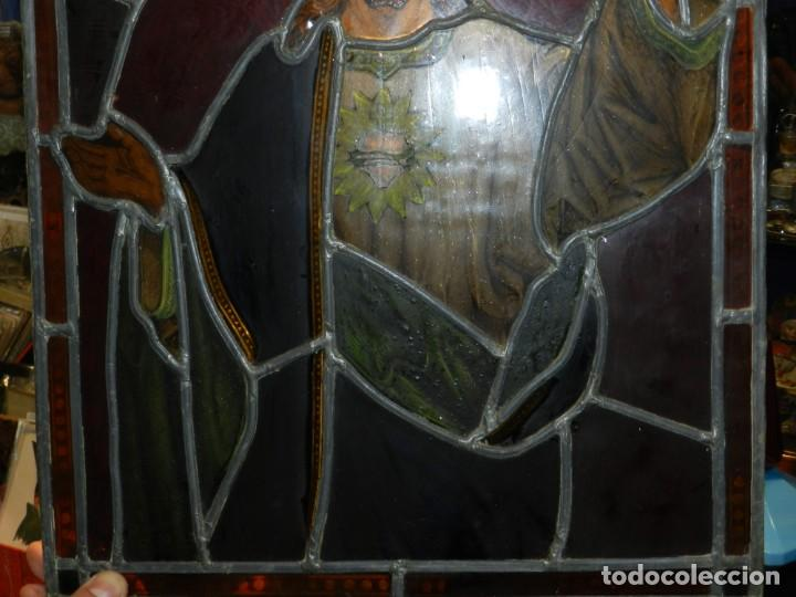 Arte: (M) PLAFON DE CRISTAL EMPLOMADO S.XIX IMAGEN DE SAN JOSE 46,5 X 37 CM, SEÑALES DE USO NORMALES - Foto 8 - 156046050